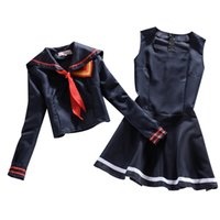 Wholesale Japanese Female School Uniforms - Free Shipping Anime KILL la KILL Cosplay 2015 New Latest Style Honnoji Gakuen Matoi Ryuuko School Uniform Sailor Suit Hot Sale
