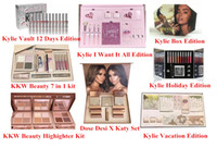 Wholesale Color Gift Boxes - Newest Kylie Lip Kit by kylie jenner Velvetine Liquid Matte 12 Days Vault Makeup Holiday Big Box I WANT IT ALL The Birthday Collection Gift