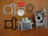 Wholesale Boring Cylinder - Scooter parts 139QMB 39mm GY6-50 cc upgrade to 50mm GY6 100cc big bore kit  cylinder kit + cylinder head assembly w  64mm valves