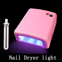 Wholesale uv light systems resale online - high quality Nail care system W UV Nail Art Gel Curing Polish Light Dryer Tube Lamp