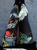 Wholesale Sexy Leggings Skull - Sexy!! New Women Leggings Print Elastic Punk Leggins Ankle Length Polyester Skeleton Legging Natural Color Skull Leggings 2015