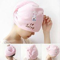 Wholesale Dry Hair Hat - Useful Dry Hair Hat Microfiber Hair Turban Quickly Dry Hair Hat Wrapped Towel Bathing Cap 56*20.5cm,dandys