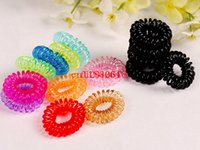 1000pcs / lot Frete Grátis Elastic Hair Band Candy Color Kids Girls Hair Circle Rope Mulheres Children Hair Accessories Headwear
