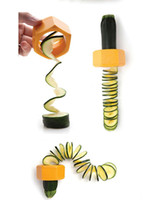 Wholesale Gadgets Sale Free Shipping - Hot Sale Kitchen Accessories Cooking Tools Vegetable Fruit Cucumber Spiral Slicers Fruit Gadget NEW Free Shipping
