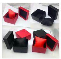halsketten papier box großhandel-Armbandkasten Uhr-Kasten-Geschenk für Schmucksache-Halskette 8 * 8.5 * 5.5cm passt Kastenpapier Uhr-Kästen mit Kissen auf