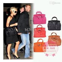 Wholesale celebrity pink bag - Hot Celebrity Girl Faux Leather Handbag Tote Shoulder Bags Women HandBag fashion designer Ready Stock Support Free Drop Shipping