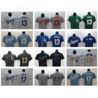 Wholesale Embroidery Services - Baseball jersey new arrival Men's #13 PEREZ jersey KC Royals #17 Davis Salute to Service Stitched Baseball jerseys Embroidery Logo