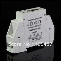 Wholesale Digital Single Phase Meter - Single Phase LCD 5(32A) 220VAC 60Hz DIN-rail Kilowatt Hour kwh Energy Meter order<$18no track
