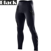 Wholesale Fast Drying Pants - 2XU Mens Compression Tights for Men Fast Dry Long Pants Trousers Joggers Trousers Joggers Slim Fit Mallas Hombre Fitness Pants Marathon 2XU