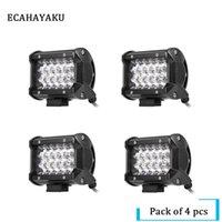 luz de trabalho ip68 venda por atacado-4 Pcs 54 W 5 polegada LEVOU Barra de Luz Spot 12 V 24 V IP68 ATV SUV Trabalho Caminhão Leve 3-row Led Work Light Bar Offroad