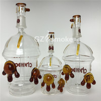 Wholesale new cup bong resale online - New Cheech Glass Honey Cup with One pair of tortoise Oil Rig glass bongs mini Hookah glass water pipes Starbuck Cup heady dab oil rigs bong