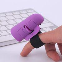 Wholesale Mini Ring Mouse - Mini Cute Blue & Black Plug and Play 2.4GHz USB Wireless Finger Rings Optical Mouse 1600DPI For PC Laptop Desktop