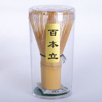 Wholesale japanese teas - 1 x New Japanese Bamboo Chasen Set Green Tea Whisk for preparing Matcha Green Tea Powder Coffee Tea Tools