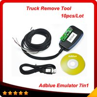 Wholesale Scania Adblue - 2015 Professional Truck Diagnosticl tool for Mercedes MAN Scania Iveco DAF Volvo and Renault Adblue Emulator 7-in-1 with Programing Adapter