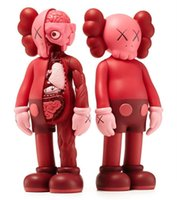 7pcs Kaws Original Fake Action Figure Companion Collection Muñeca Regalos de Navidad Cumpleaños Juguetes Gloomy-Bear MoMo Bear POPOBE Qee Bearbrick