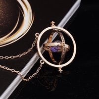 Wholesale Hermione Granger Time Turner - 2017 Trendy Time Turner Pendant Necklace Hermione Granger Rotating Spins Gold silver Hourglass necklace free shipping