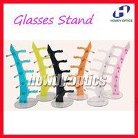 Wholesale Eyeglasses Rack - Free Shipping Plastic Glasses Rod Eyewear Eyeglasses Holder Sunglasses Display Stand Rack Holder of 5pcs Glasses