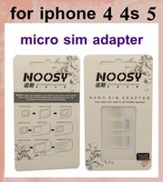 Wholesale Micro Sim Slot Replacement - nano sim noosy nano card adapter sim card tray holder slot replacement for iphone 4 4s iphone 5 for most mobile devices OTH022