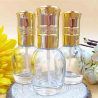 nachfüllbarer duftzerstäuber großhandel-10 ml tragbare MINI Glas Parfüm Flasche nachfüllbar leeren Duft duftenden Fläschchen Zerstäuber Sprühflasche Kosmetik Make-up Container Rabatt