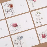 Wholesale Loving Saying - Wholesale- 30pcs hand paint flower design postcard say love secret invitation Greeting Cards gift cards Christmas postcard & invitation