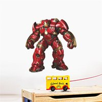 Wholesale Hero Wall Poster - WHOLESALE Iron Man super hero wall stickers kids room decor avengers a002. diy home decals cartoon movie mural art poster 5.0