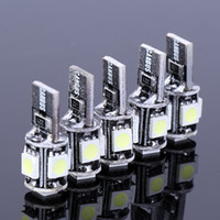 Wholesale Ford Focus Park - 20pcs lot Led T10 5 LED NO Error Canbus W5W 194 5050 SMD Error Free White Wedge Car Led Light Auto Bulb blubs Parking For Ford Focus 2