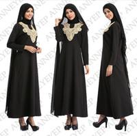 Wholesale Jilbab Islamic Clothes - Abaya muslim dress turkish women clothing islamic abayas jilbab musulmane vestidos longos clothing dubai kaftan longo giyim Ladies Clothing