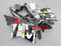 Wholesale Custom Painted Gsxr - Painted white and black with custom Injection molding fairings Suzuki GSXR 600 750 SRAD 1996-1999 1997 1998 15