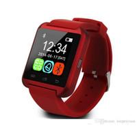 bilek izlemek bluetooth cep telefonları toptan satış-U8 Altimete Olmadan Bluetooth Akıllı Bilek İzle U Saatler Smartwatch Saatler iPhone Samsung HTC Sony Cep Telefonları Için Toptan