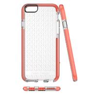 Wholesale Drop Tech Case - Fashion 6s Hybrid Mesh Clear Back Soft TPU Case For Iphone 6 6s plus Anti-Drop shell Osten Design Copy Tech No Retail box