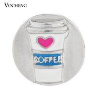 Wholesale Custom Clasps - Vocheng Noosa Interchangeable Snap Charms Jewelry Accessory Coffee Cup Custom Snap Button (Vn-395)