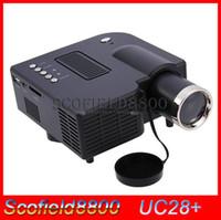 "Wholesale Mini Projetor Led Uc28 - UC28+ 1080P HD 400LM 16770K portable pico led mini HDMI video game projector,digital pocket home projetor mini proyector for 80"" cinema"