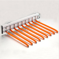 pants closet metal 1pcs cloakroom clothes hanger thickening pants rack push and pull double row