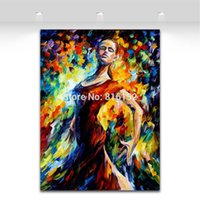 murais de parede sexy venda por atacado-Faca de Paleta Pintura Flamenco Graciosa Sexy Mulheres Paixão Dança Imagem Impressa Na Lona Mural Art Para Home Office Cafe Decoração Da Parede