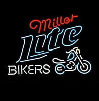CALDO Neon Sign Real Glass Tuble Artigianato MILLER LITE BIKERS BICYCLE NEON SEGNO REAL NEON BAR PUB SIGN LOGO SEGNO 17