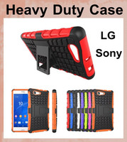 Wholesale lg g2 armor cases - Hybrid slim armor Case Heavy Duty Durable 2 in 1 TPU PC Robot Hard Cases For LG G2 G3 G4 L70 Sony z3 mini z4 mini dhl free shipping SCA047