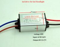 Wholesale Led Driver Free Shipping - High quality led driver DC12-27V 10w 300mA led power supply flood light driver ( 9 series 1parallel) waterproof IP65 free ship