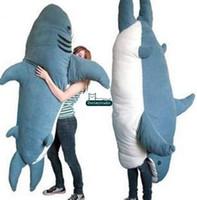 Wholesale Animal Sofa - Dorimytrader 79''   200cm Shark Sleeping Bag Giant Stuffed Soft Plush Animal Bed Carpet Tatami Mattress Sofa Nice Gift Free Shipping DY60496