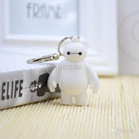 Wholesale Mario Action Key Chains - Wholesale-Big Hero 6 Baymax Key Chain 6cm Cute Action Figure Pendant Keychain Gift Keyring for friends