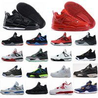 Wholesale Gold Star Military - Air retro 4 men Basketball shoes Military Motosports blue Alternate 89 Pure Money White Cement Royalty bred Fire Red Black Cat Oreo sneakers