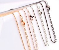 Wholesale Heart Magnetic Beads - New 10pcs lot Fashion Bead Chain   Necklace Fit For Magnetic Glass Floating Charms Locket Pendant 4 Colors