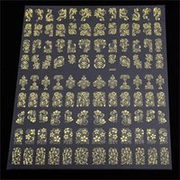 Wholesale 3d Decals For Nails - 3D Nail Art Decorations Top Nail 108 Design Gold Foil Flowers Stickers For Nails 6 Color Metal Bronzing Decal 3D Nail Art Sticker Tips Decor