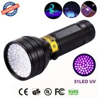 Torcia UV Luce Nera, 51 LED 395 nM Rivelatore Ultravioletto Blacklight per Urina di Cane, Macchie di Animali e Cimici
