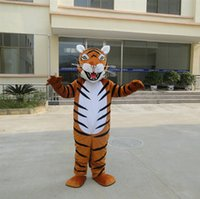 Wholesale Dress Carnival Animal - Tiger Mascot Costume Christmas Carnival Fancy Dress Party Free shipping