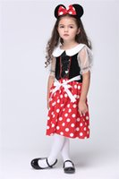 Wholesale Micky Mouse Clothes - 2015 Cosplay Girls Clothing Girls Dresses Set Micky Mouse The Game Clothing Costume Party Girls Set