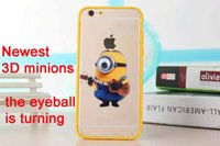 Wholesale Despicable Hard Case Iphone - 3D Despicable Me Hard Back Cover Eyeball Turning Case Minions for iPhone 5S 6 6S Plus 6+ 6S+