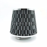 """Wholesale carbon fiber air filter - Universal 76mm 3"""" Car Carbon Fiber Cold Air Intake Mesh Tapered Cone Air Filter SUV Car Air Filter Car Cold Kits Drop Shipping"""