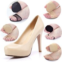 Wholesale Family Foods - 10 style Choose Super Soft Forefoot Pad High Heel Shoes Invisible Heel Cushions Anti-slip Half Insole Thicken Shoe Food Care Pad