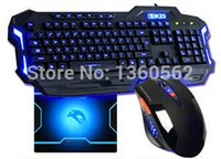 Wholesale Teclado Mouse Sem Fio - Wholesale-2015 Computer Accessories wire keyboard and mouse Gaming Teclado Gamer e Mouse Sem Fio Keyboards For Laptop Notebook PC