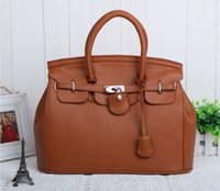 Wholesale Camel Hand Bag - Hot Elegant Vintage Women Lady Celebrity PU Leather Tote Handbag Shoulder Hand Bag with Lock 8 colors Wholesale